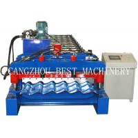 China 4m/min Glazed Roofing Tile Roll Forming Machine For Roof Building on sale