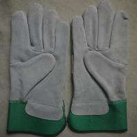 Cow split leather working gloves for riggers Manufactures