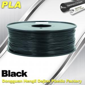 Black  PLA 3d Printer Filament  1.75mm /  3.0mm 1.0 KG / Roll Manufactures