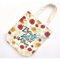 10 Oz Tote Reusable Eco Bags Handled Style , Cotton Zipper Shopping Bag Manufactures