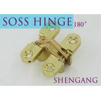 Stainless Steel Furniture Hardware For Concealed Door , Adjustable Door Hinges Manufactures