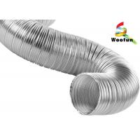 High Flexibility Semi Rigid Air Conditioning Aluminum Flexible Ducting Manufactures