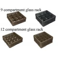 PP Compartment Glass Rack Kitchen Plate Rack For Commercial Dishwashing Machine Manufactures