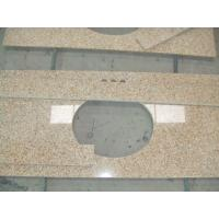 Prefab Beige Bathroom Vanity Countertops 93% Quartz Sand Percentage Manufactures