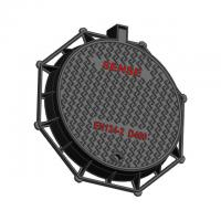CTCD85 Steel Manhole Cover Round Eight Angle Ductile Iron EN GJS500-7 Manufactures