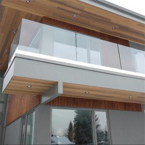 Quality Outdoor frameless glass railing aluminum channel balustrade for sale