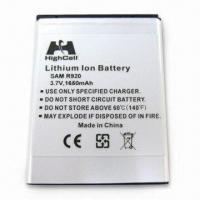 China Mobile Phone Battery for Samsung R920, with 3.7V Voltage and 1,650mAh Capacity on sale