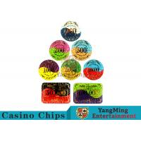 Security Promotional Casino Poker Chips With Smooth And Delicate Texture Manufactures