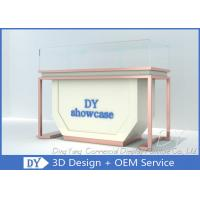 1200 X 550 X 950 Wooden Beige Jewelry Store Showcases With Light Manufactures