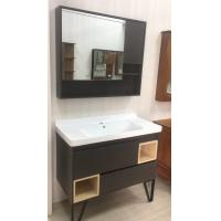 Slim Built In Bathroom Mirror Cabinet  With Shelf Lights Lacquer Finished Manufactures