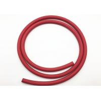 Buy cheap Red Fabric Braided Compressed Air Hose / Flexible Rubber Hose B.P 900psi from wholesalers
