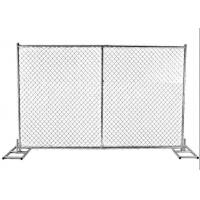 Galvanized Chain Link Temporary Fence Panels For Overseas Market Manufactures
