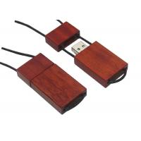 Rope Connected Red Wood USB Thumb Drives Support Windows 98/ME/2000/XP Manufactures