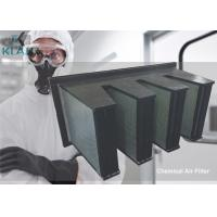 V Bank Activated Carbon Air Filter High Capacity For Gaseous Adsorbed Manufactures