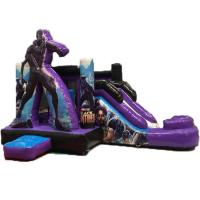 China Black Panther Kids Inflatable Bounce House With Dry Slide 3 Years Warrenty on sale