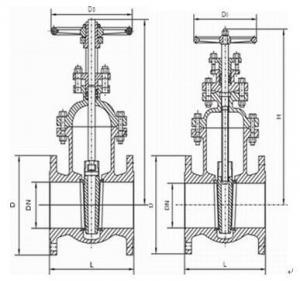 Quality cast iron flange gate valve for sale