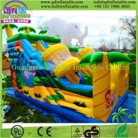 Outdoor splash inflatable water slides for kids/inflatable slide for pool/plastic slide Manufactures