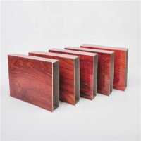 China Wood Grain 9 inches General Rectangular Aluminum Extruded Profiles on sale