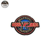 Clothing Iron On Custom Embroidered Logo Patches Custom Design With Twill / Felt Fabric Manufactures