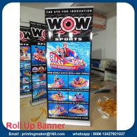 Wide Base Aluminum Roll Up Stand with Printing Manufactures