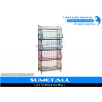 China 5 Tiers Colorful Stackable Wire Metal Shelving , Wire Storage Racks For Promotional Products on sale