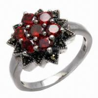 Amethyst Silver Ring, Available in Various Styles Manufactures