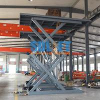 3 Ton 5M Hydraulic Scissor Car Lift Underground Car Parking Lift With CE Manufactures