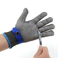 Working Safety Hand Protection Gloves Stainless Steel Wire Mesh 120 Gram Manufactures