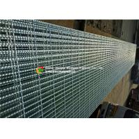 Hot Dipped Galvanized Serrated Steel Grating For Stair Tread / Ditch Cover Manufactures