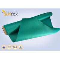 Green High Temp Fiberglass Fire Curtain Fabric Cloth For Building Fire Control System Manufactures