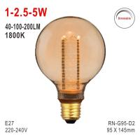G95 Bulb, Deco Bulb, E27 LED Bulb, Fashionable Glass Bulb, Energy-saving Bulb Manufactures