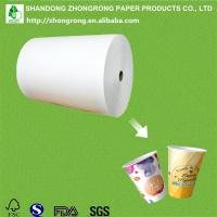 China poly coated paper for making paper cups on sale