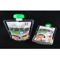 Plastic Custom Printed Stand up Spout Pouches for Packing Jam / Sauce Manufactures