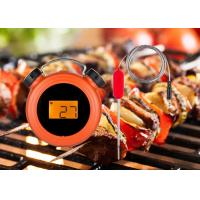 China Clock Shape Orange Bluetooth Meat Thermometer With Two Probes High Accuracy on sale