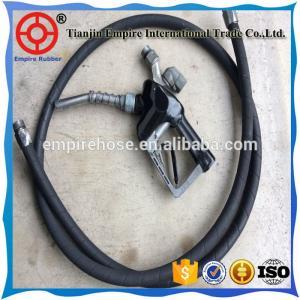 ISO manufacturer 45mm high wear resistant fiber braided black petrol station rubber hose Manufactures