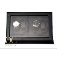 China Black Four Automatic Watch Winders with Tempering glass Box cover on sale