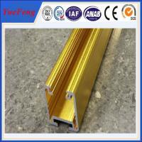 golden color anodized aluminum extrusion track for sliding door Manufactures