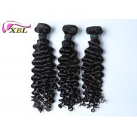 Natural Black Human Brazilian Virgin Hair Extensions No Tangle And Shedding Manufactures