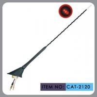 Auto Car Roof Antenna , Car Electric Aerial Led Light 41cm Mast Length Manufactures