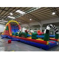 Huge Interactive Challenge Blow Up Obstacle Course Bounce House Aqua Park Manufactures