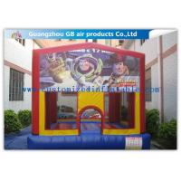 Mini Printing Inflatable Bungee Jumping Bouncer , Inflatable Bouncy Castle Toy Manufactures
