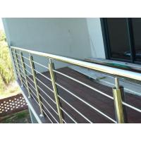 China Outside Metal Rods For Deck Railing , Stainless Steel Balustrade Decoration on sale
