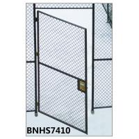 Grey Color Wire Mesh Partition Panels Single Hinged Security Cage Door Antirust Manufactures
