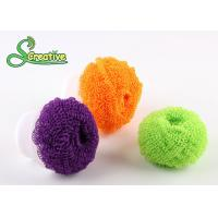 Spiral wire plastic scourer fiber ball for kitchen washing/bathroom cleaning Manufactures