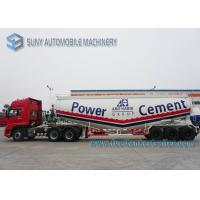 Professional 12 Wheels Dry Bulk Tanker Trailer Tri - Axle V Shape Manufactures