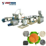Double Stages PET Pelletizing Machine , Plastic Bottle Granulator Extruder Manufactures