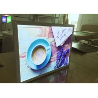 China 15 MM Ultra Thin LED Free Standing Light Box Aluminum Snap Frame Extrusion on sale