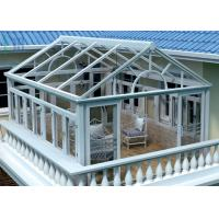 Quality Safety Glass Villa Aluminium Frame Greenhouse Sunroom For Leisure Life for sale