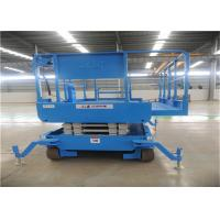 China Low Noise Scissor Lift Trailer 10m Long Running Time Front Wheel Drive Adjustable on sale