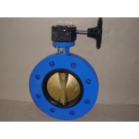 Centric Ductile Iron Marine Flange Butterfly Valve With Gearbox Manufactures